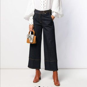 TORY BURCH Wide Leg Cropped Jeans